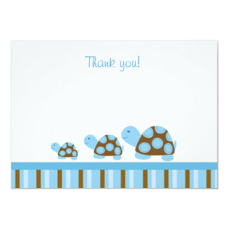 Mod Turtles (Blue) Flat Thank You notes Card