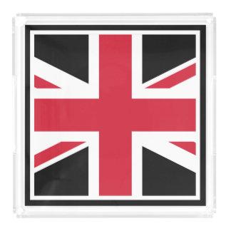 Mod Union Jack ~  Black, Red and White Acrylic Tray