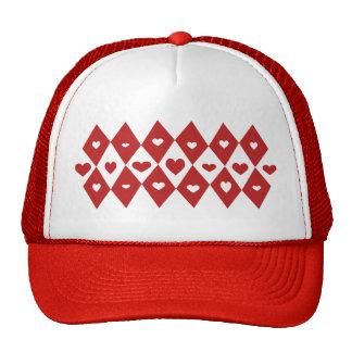 Mod Valentine Hearts Mesh Hat