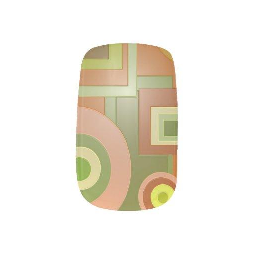 Mod Yellow Green Circles Squares PopArt Minx ® Nail Art