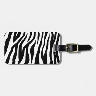 Mod Zebra Print Bag Tag