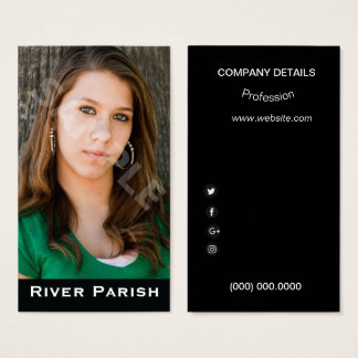 Model Actor Headshot Business Card