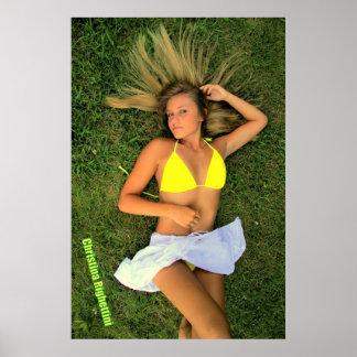 Model Christina Righettini Poster