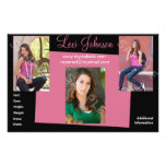 Model Comp Cards Headshot Zed Personalized Flyer