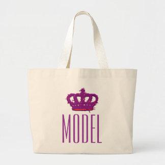 Model Crown Jumbo Tote Canvas Bag
