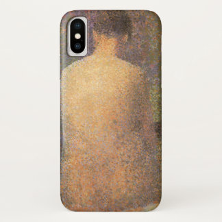 Model From Behind by Georges Seurat, Vintage Art iPhone X Case