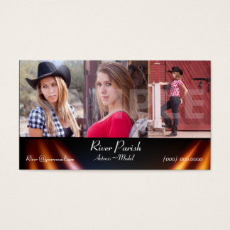 Model Headshot Business Cards Actors & Models