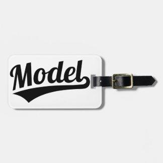 Model Luggage Tag
