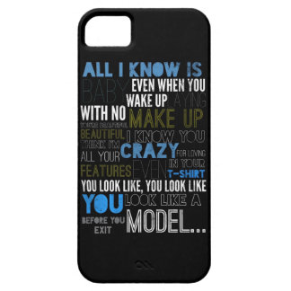 Model Lyric Case iPhone 5 Cover
