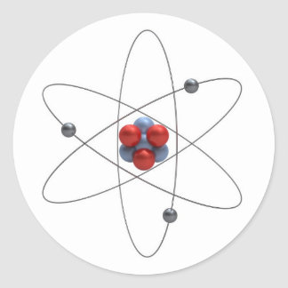 Model of a lithium atom classic round sticker