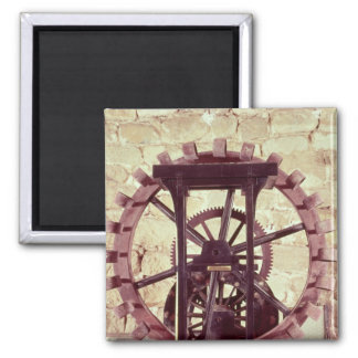 Model of a water wheel square magnet