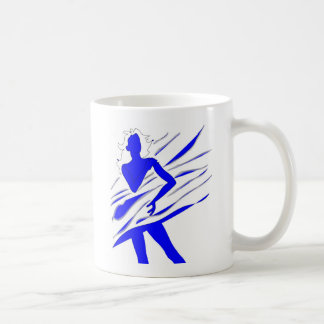 Model of Girl in the blue tones Coffee Mugs