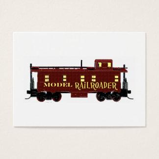 Model Railroad Caboose Business Card