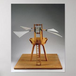 Model reconstruction of da Vinci's design Posters
