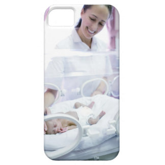 MODEL RELEASED. Nurse and premature baby. iPhone 5 Cover