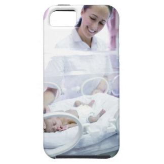 MODEL RELEASED. Nurse and premature baby. iPhone 5 Cases
