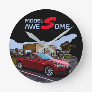 MODEL S - AWESOME ROUND CLOCK