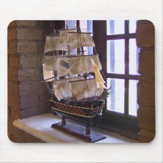 Model Sailing Ship Mouse Pad