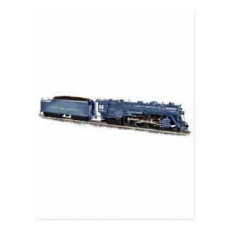 Model Steam Locomotive Postcard