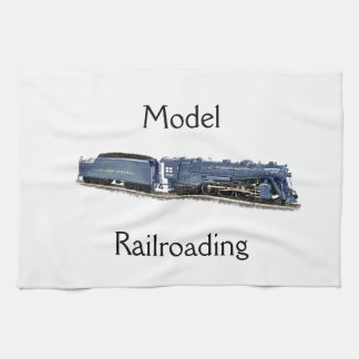 Model Steam Locomotive Tea Towel