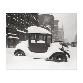 Model T Buried in Snow, 1922 Canvas Prints