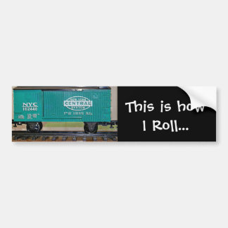 Model Train Box Car Bumper Sticker