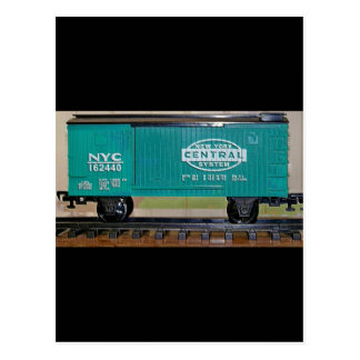 Model Train Box Car Postcard