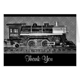 Model Train Thank You Card