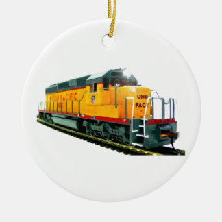Model U.P. Diesel Locomotive Ceramic Ornament