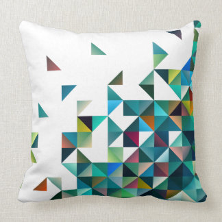 Moder Colorful Geometric Shapes Triangles Pattern Cushion