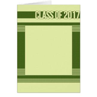 Modern 2017 Graduation Card