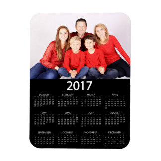 Modern 2017 Photo Calendar Rectangular Photo Magnet