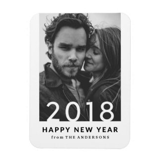 Modern 2018 | Holiday Photo Magnet