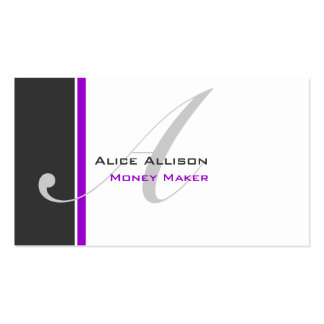 Modern 3 Color Monogram D Double-Sided Standard Business Cards (Pack Of 100)