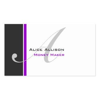 Modern 3 Colour Monogram D Pack Of Standard Business Cards