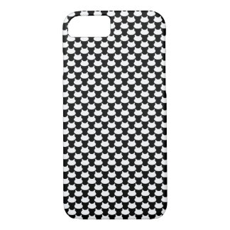 Modern 3D Cat Pattern iPhone 8/7 Case - B&W