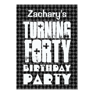 Modern 40th Birthday Huge Letters Turning Forty Personalized Invite
