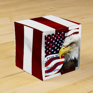 Modern 4th of July US USA Flag American Eagle Favour Box