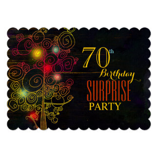 Modern 70th Surprise Birthday Party Card