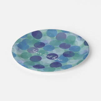 Modern Abstract 7 Inch Paper Plate