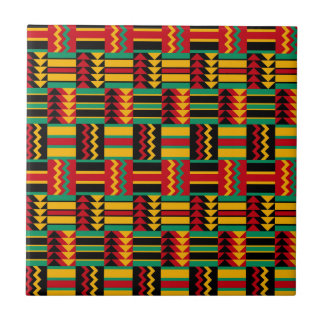 Modern Abstract African Art Pride Red Yellow Green Small Square Tile