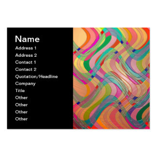 Modern Abstract Art Colorful Stained Glass Look Business Card Templates
