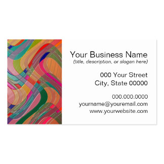 Modern Abstract Art Colorful Stained Glass Look Business Cards