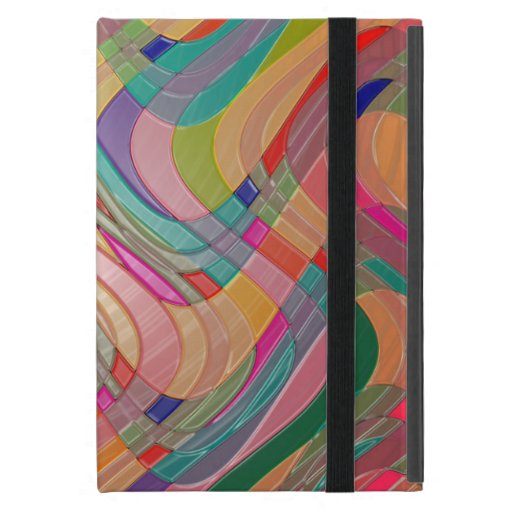 Modern Abstract Art Colorful Stained Glass Look Case For iPad Mini