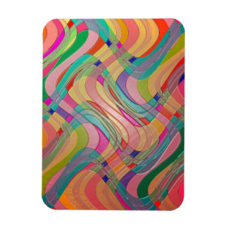 Modern Abstract Art Colorful Stained Glass Look Rectangle Magnets