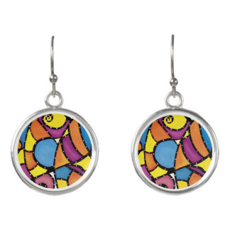 Modern Abstract Art Earrings