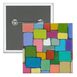 Modern abstract art fun colorful unique original pinback buttons