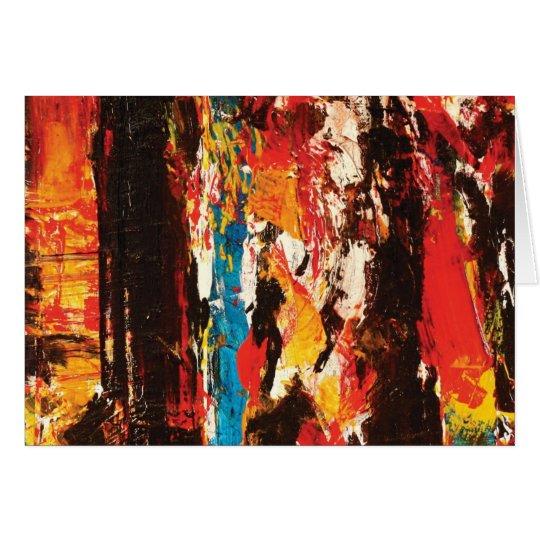 Modern Abstract Art Greeting Card