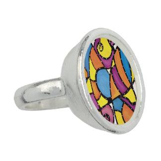 Modern Abstract  Art Ring