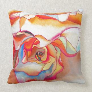 Modern abstract begonia watercolour art throw pillow